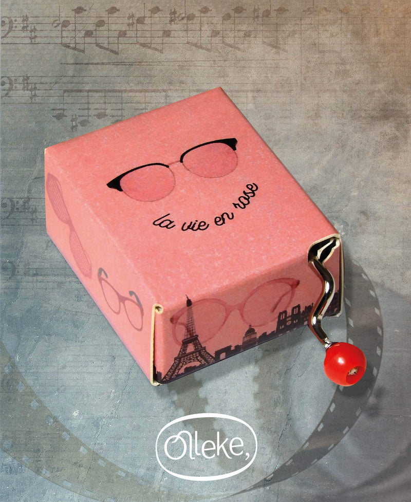 La vie en rose Hand Crank Music Box - Olleke | Disney and Harry Potter Merchandise shop