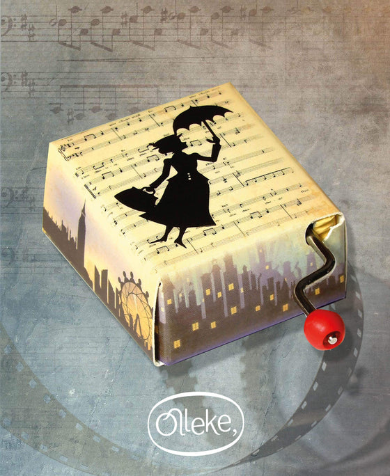 Mary Poppins Hand Crank Music Box Olleke | Disney and Harry Potter Merchandise shop Olleke