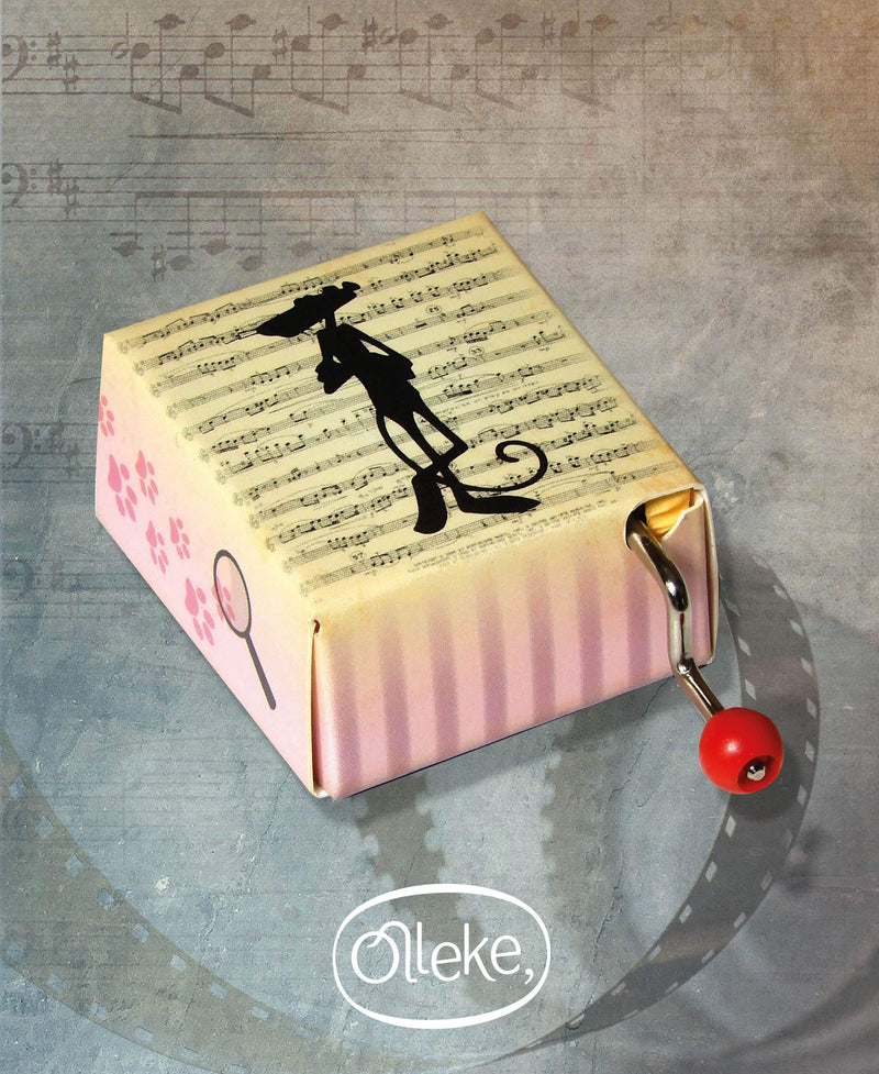 Pink Panther Hand Crank Music Box - Olleke | Disney and Harry Potter Merchandise shop