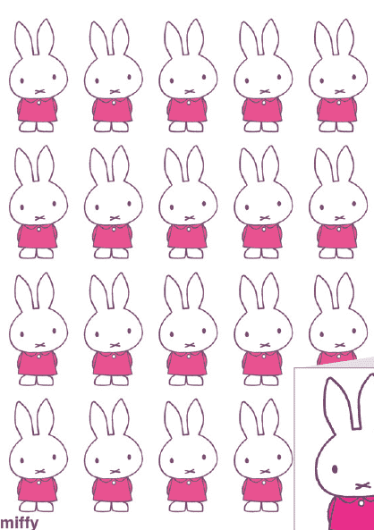 Miffy gift wrap pink - Olleke | Disney and Harry Potter Merchandise shop