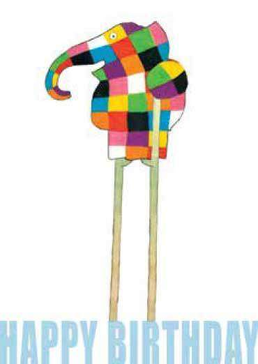 Stationary - Elmer Happy Birthday Card