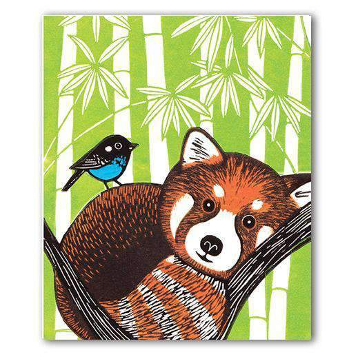 Red Panda Greeting Card by Kat Lendacka - Olleke | Disney and Harry Potter Merchandise shop