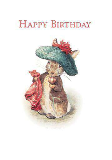 Peter Rabbit Card: Happy Birthday - Olleke | Disney and Harry Potter Merchandise shop