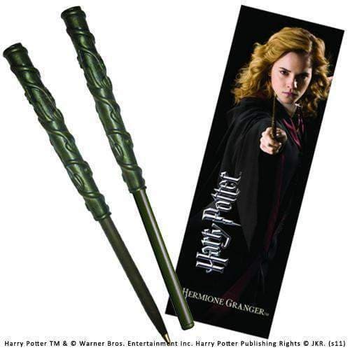 Hermione Wand Pen and Bookmark Olleke | Disney and Harry Potter Merchandise shop The Noble Collection
