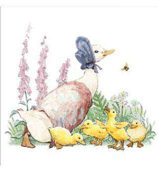 Peter Rabbit Card: Jemima Puddle-duck with Ducklings - Olleke | Disney and Harry Potter Merchandise shop