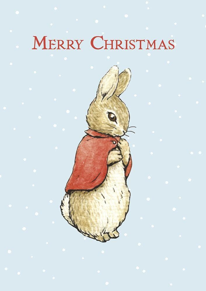 Peter Rabbit Card: Flopsy Bunny Merry Christmas - Olleke | Disney and Harry Potter Merchandise shop
