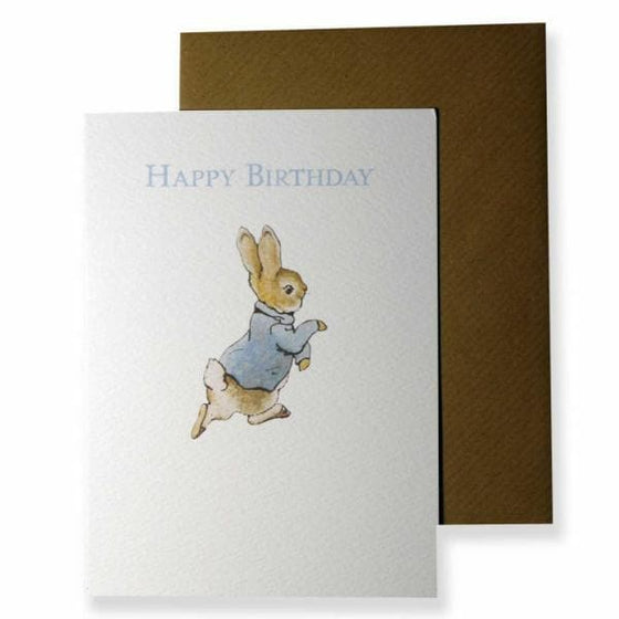 Stationary - Peter Rabbit Card: Happy Birthday Peter Rabbit Running
