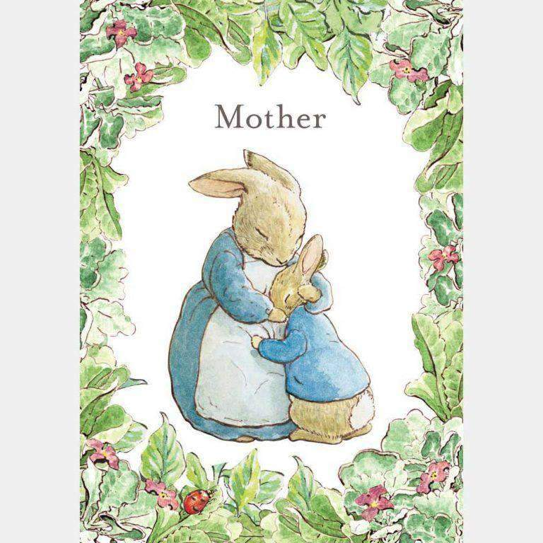 Peter Rabbit Card: Mrs Rabbit & Peter Rabbit 'Mother' - Olleke | Disney and Harry Potter Merchandise shop