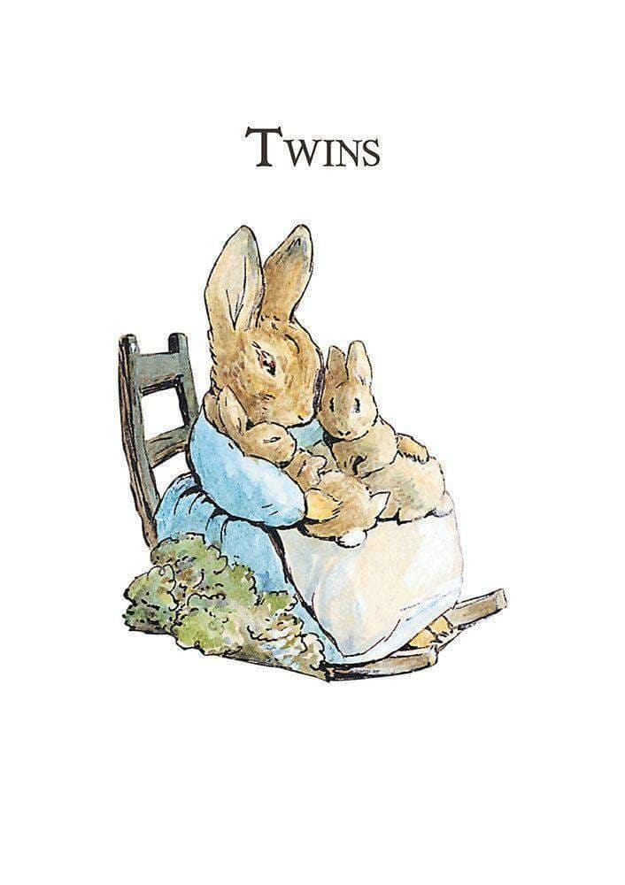 Peter Rabbit Card: Mrs Rabbit 'Twins' - Olleke | Disney and Harry Potter Merchandise shop