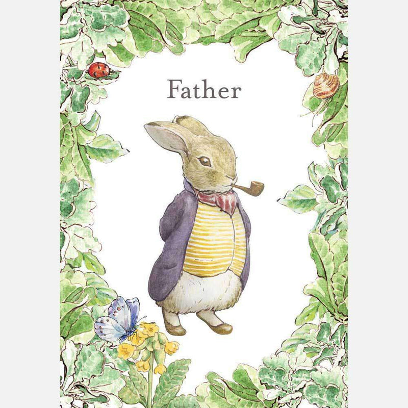 Peter Rabbit Card: Old Mr Benjamin Bunny 'Father' - Olleke | Disney and Harry Potter Merchandise shop