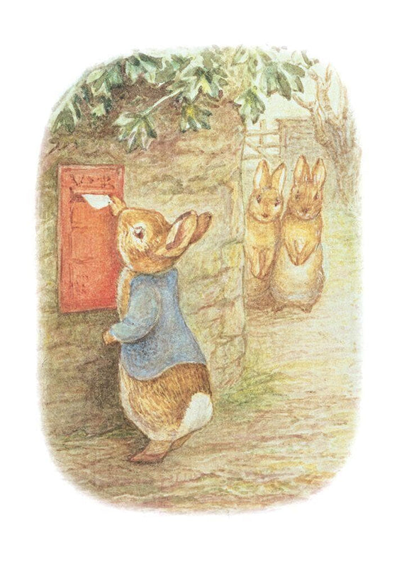 Peter Rabbit Card: Peter Posting A Letter Olleke | Disney and Harry Potter Merchandise shop Hype