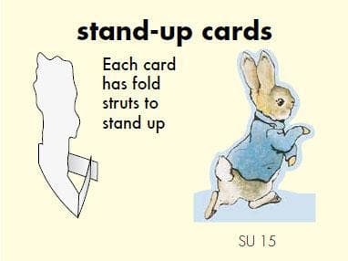 Peter Rabbit Card: stand-up Peter Olleke | Disney and Harry Potter Merchandise shop Hype