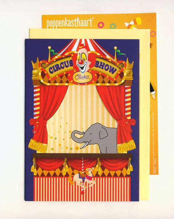 Poppenkastkaart Circus Olleke | Disney and Harry Potter Merchandise shop Kabouterpers