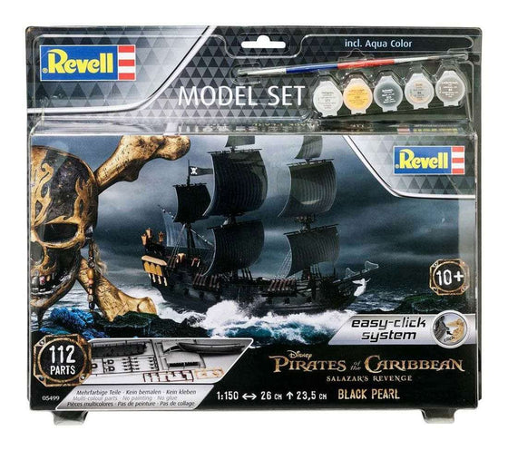 Toys - Pirates Of The Caribbean Dead Men Tell No Tales Easy-Click Model Kit 1/150 Black Pearl 26 Cm