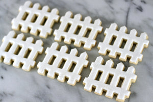 Picket Fence Sugar Cookies | Lil Miss Cakes