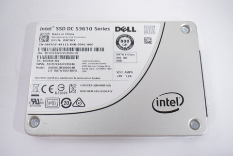 Dell Intel SSD DC S3610 Series 800GB Hard Drive 09F3GY