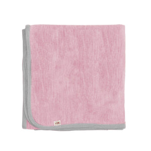 Merino Kids Cocooi Blanket - Aoraki Light Pink/Light Grey