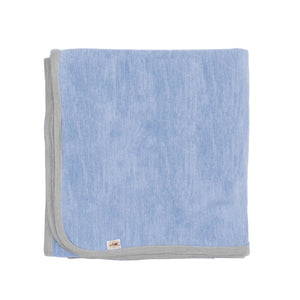 Merino Kids Cocooi Blanket - Aoraki Sky/Light Grey
