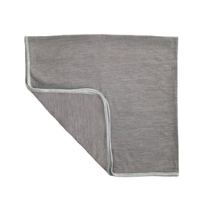 Merino Kids Cocooi Baby Blanket Wrap - Flint & Light Grey