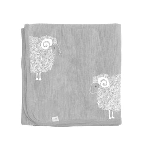 Merino Kids Cocooi Blanket - Aoraki Light Grey/Grey