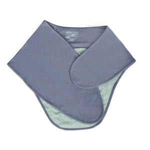 Merino Kids Cocooi Swaddle - Denim & Light Grey