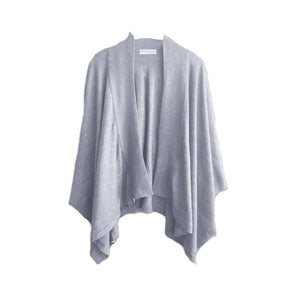 Merino Kids Mother & Baby Shawl - Light Grey
