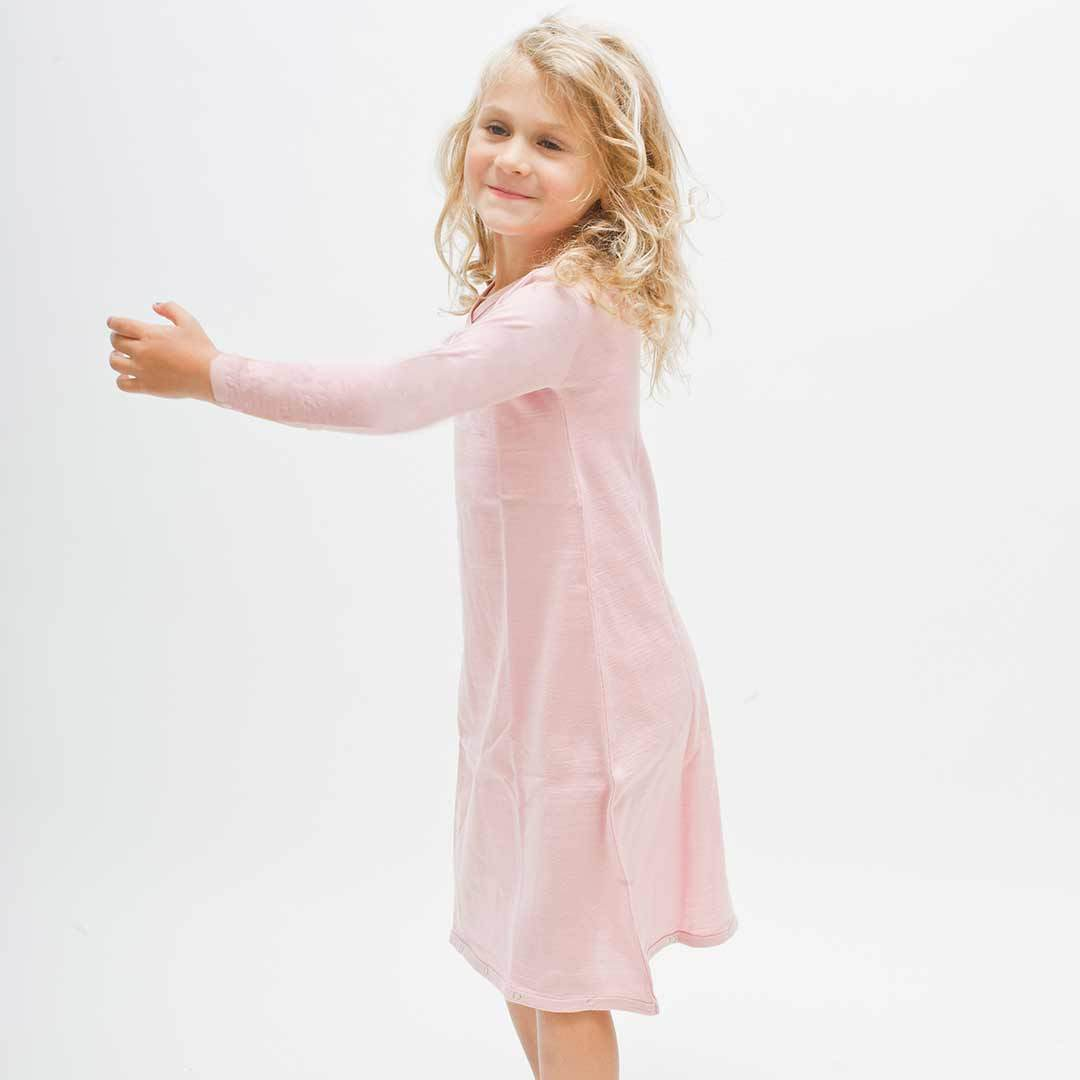 Merino Kids Gown - Light Pink