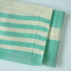 Aoraki Lambswool Cot Blanket - Light Green