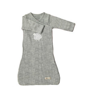 Merino Kids Cocooi Gown - Aoraki Light Grey/Grey