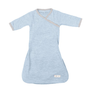 Merino Kids Cocooi Gown - Aoraki Sky/Light Grey