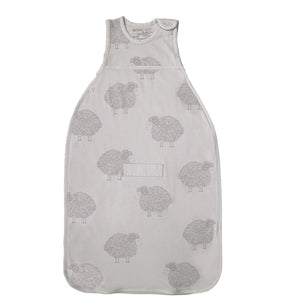 Merino Kids Go Go Sleeping Bag - Standard Weight - Sheep Print - Light Grey
