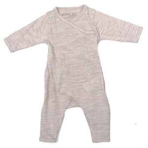 Merino Kids Cocooi All-in-One - Honey Oat Melange - Babygrows & Sleepsuits - Natural Baby Shower