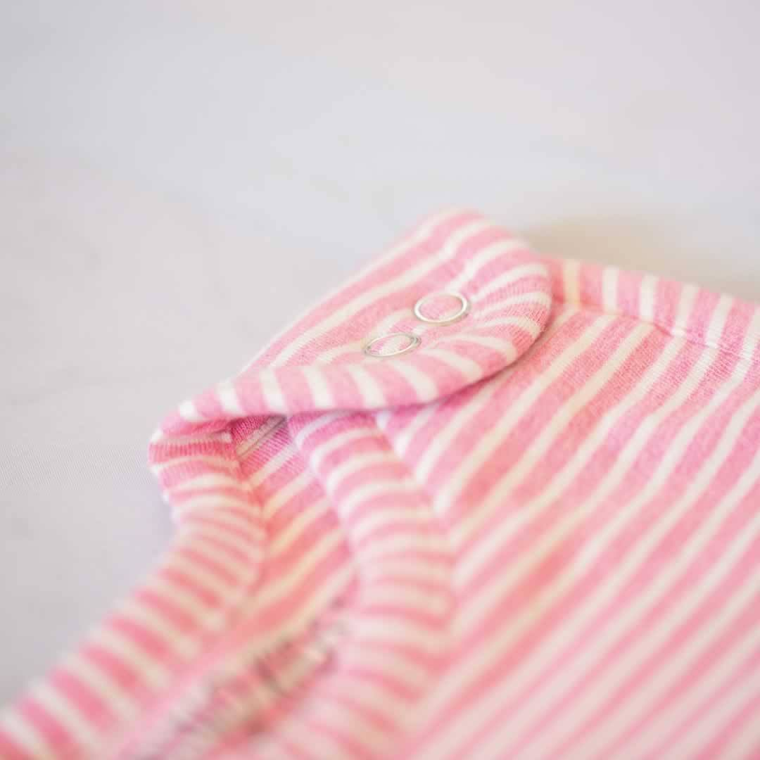 Merino Kids Go Go Baby Sleeping Bag - Standard - Pink Stripe - Sleeping Bags - Natural Baby Shower