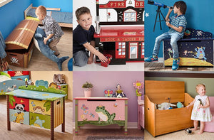 kids playing with toy boxes