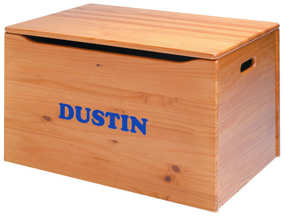 Solid Wood Toy Box - Personalized - More Colors