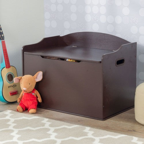 Personalized Espresso Austin Toy Box | Toy Box City