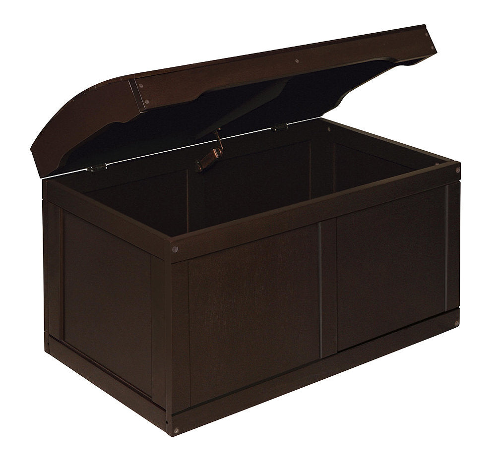 Barrel Top Toy Box - Espresso | Toy Box City