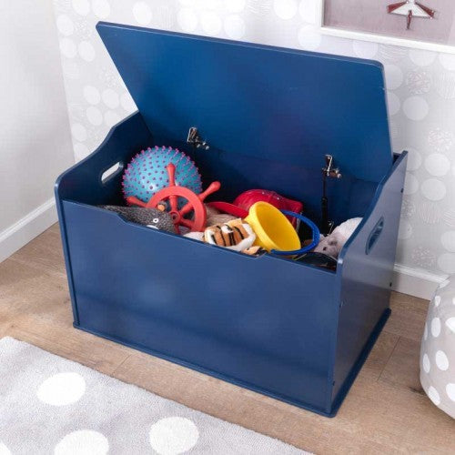 Personalized Blueberry Austin Toy Box | Toy Box City