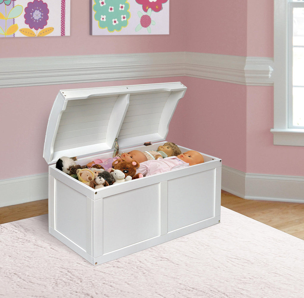 Barrel Top Toy Box - White | Toy Box City