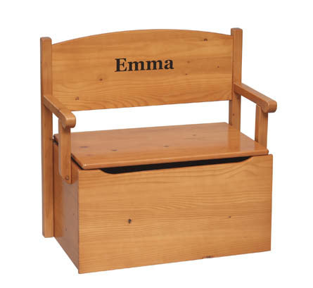 Solid Wood Bench Toy Box - Personalized - More Colors | Toy Box City