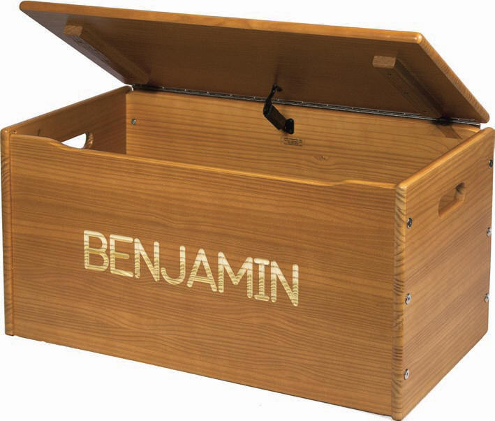 Solid Wood Toy Chest  - Personalized - More Colors