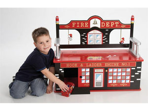 Firefighter Toy Box Bench | Toy Box City