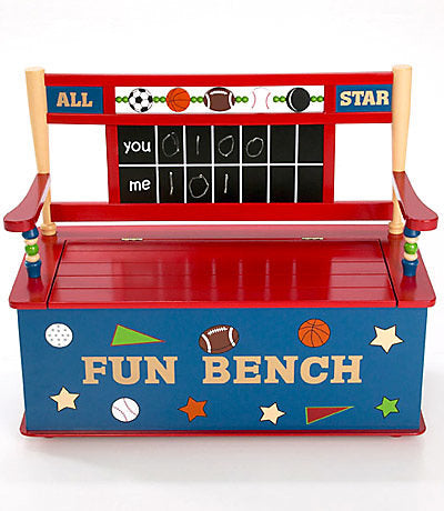 Boy's All Star Sports Toy Box | Toy Box City