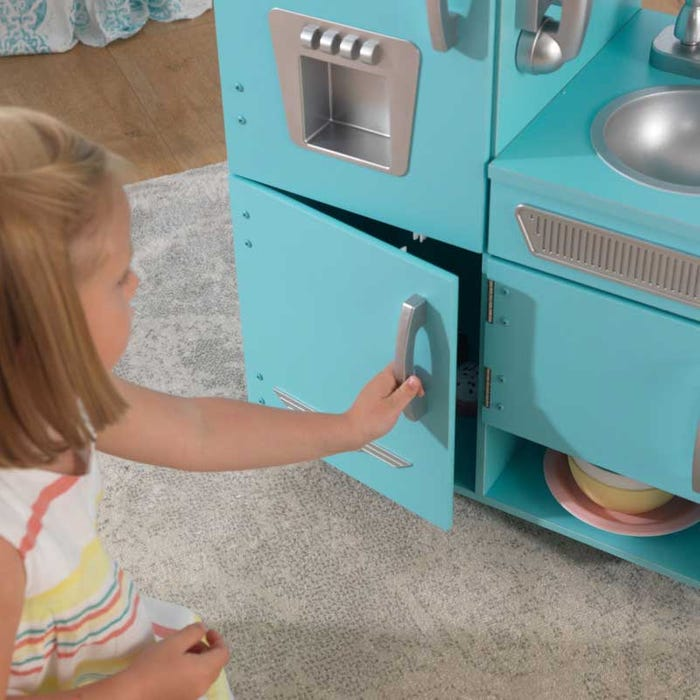 Vintage Play Kitchen Toy for Kids – Blue