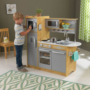 Uptown Natural Play Kitchen for Kids Toy with Chalk Board!