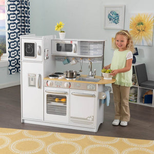 Uptown White Play Kitchen for Kids Toy with Chalk!