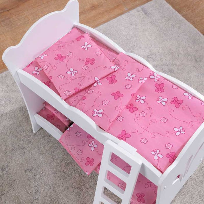 Doll Bunk Bed for 18 Inch Dolls - Fits Two