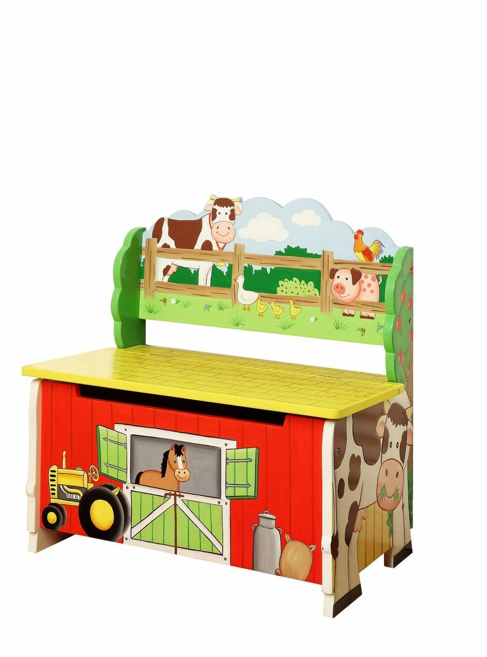 Happy Farm Toy Storage Bench | Toy Box City