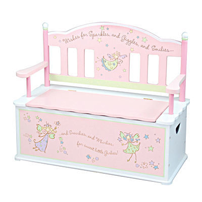 Fairy Wishes Toy Box Bench For Kids Toy Box City