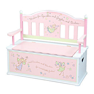 Fairy Wishes Toy Box Bench | Toy Box City